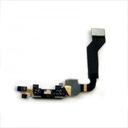 Nappe dock connecteur de charge avec micro pour iPhone 4S noir