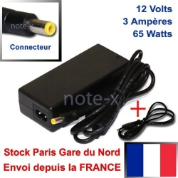 CHARGEUR ALIMENTATION COMPATIBLE POUR PC Portable ASUS Eee PC eeepc 900HD 1000H 901 12V - 3A - 4.8mm x 1.7mm