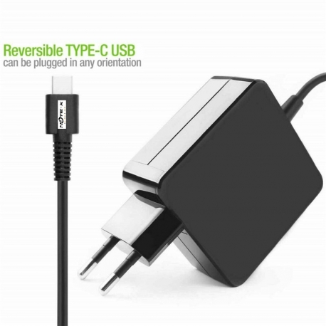 Alimentation secteur USB C 65W pour ordinateur portable ou