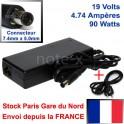 CHARGEUR ALIMENTATION COMPATIBLE POUR COMPAQ HP 463955-001 - ST123 - 19V - 4.74A - 7.4mm x 5.0mm / 1 Broche